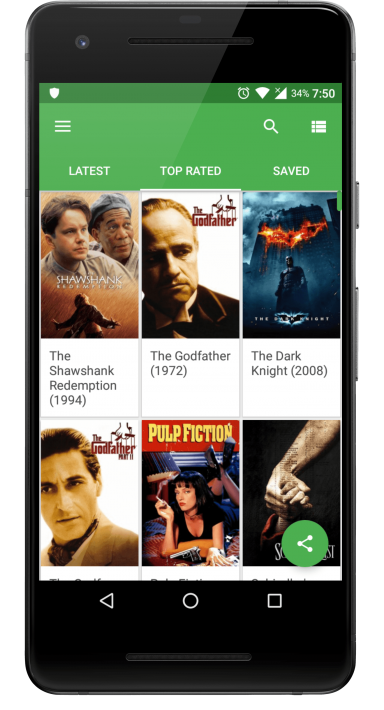 YIFY movie download app home screen